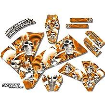 Senge Graphics Late 2001 KTM SX (Has the same plastics as the 2002 SX 250), Jester Orange Graphics Kit