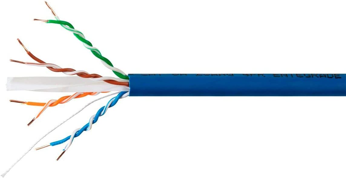 10G 650MHz CMR Entegrade Series Bare Copper Blue 1000 feet Riser-Rated Monoprice Cat6A Plus Bulk Ethernet Network Cable Solid 23AWG UTP