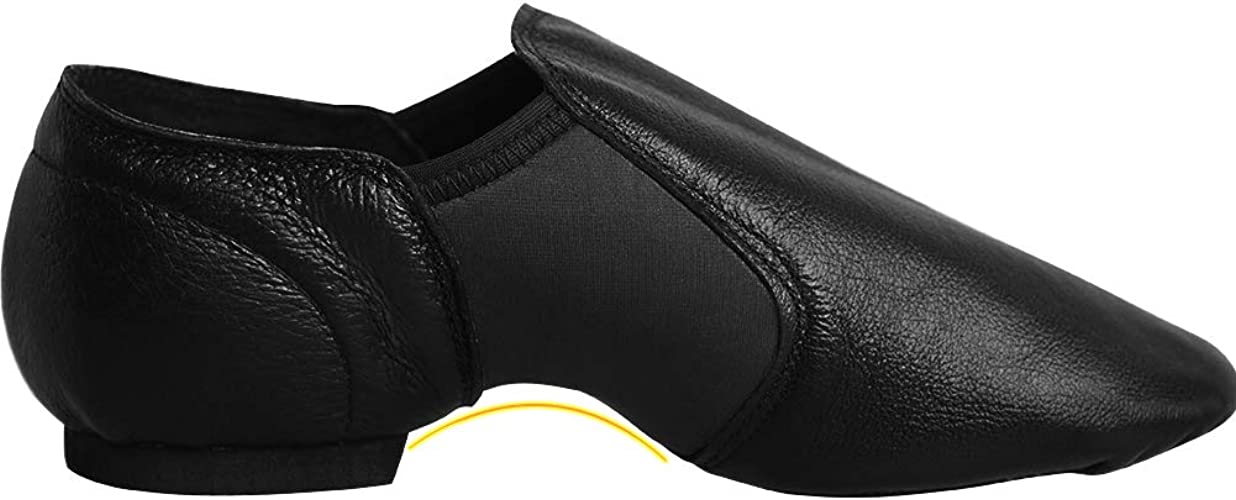 Daydance Jazz Shoes Leather Slip On for