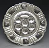 Judaica Passover Seder Plate, Silver Plated