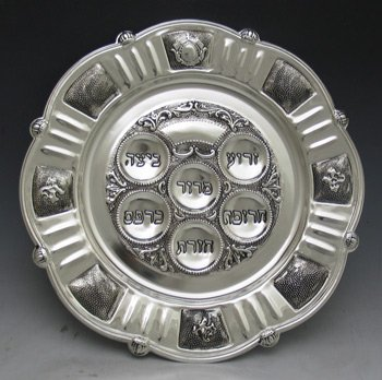 Judaica Passover Seder Plate, Silver Plated by Legacy Judaica