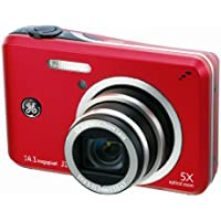 GE J1455 14MP Digital Camera with 5X Optical Zoom and 3.0-Inch LCD with Auto Brightness (Red) Benefits Review Image