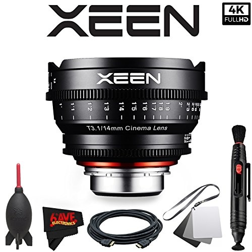 Rokinon Xeen 14mm T3.1 Lens for Canon EF Mount with Professional Accessory Kit