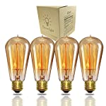 A19 Edison Bulb 60Watt,Vintage Bulb Dimmable Squirrel Cage Filament Edison Lihgt Bulb for Home Light Fixtures Decorative… 6