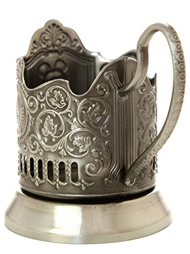 Kolchugino Russian Tea Glass Holder Podstakannik IMPERIAL EAGLE RUSSIAN COAT ARMS TEA ()