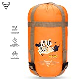 sleeping bag - Forbidden Road 380T Nylon Portable Sleeping Bag Single 15 ℃/ 60 ℉(5 Colors) Lightweight Waterproof Envelope for Man Woman 3 Seasons Camping, Hiking, Backpacking - Free Compression Bag Included