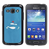 LASTONE PHONE CASE / Slim Protector Hard Shell Cover Case for Samsung Galaxy Ace 3 GT-S7270 GT-S7275 GT-S7272 / Sign Comics Character Blue Red S