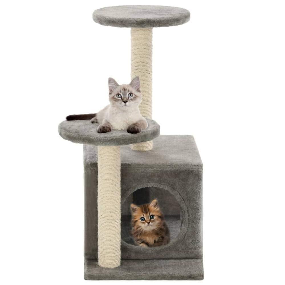 Árbol Rascador para Gatos 60 cm Rasguños de gato Árbol de gato con ...