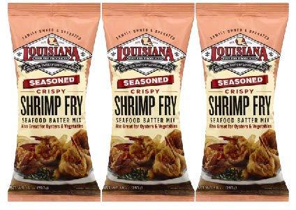 Louisiana Fish Fry Louisiana Shrimp Fry, 10 oz (Pack of 3) by Louisiana Fish Fry Products