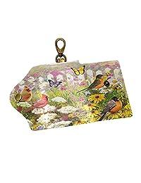 Proud Cranes Key Case Leather Wallets Design Bag Holder Men Women with Hooks & 6 Keychain/Ring
