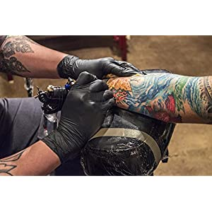 AMMEX Professional Series Black Nitrile Disposable Gloves - tattoo artist