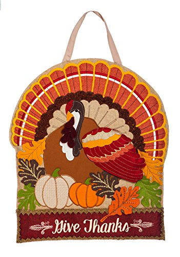 Evergreen Thanksgiving Holiday Door Décor (Give Thanks)