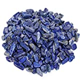 favoramulet Lapis Lazuli Tumbled Stone Chips, Polished Crushed Healing Crystal Quartz Pieces for Jewelry Making, Decoration