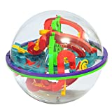 Maze Ball Labyrinth Globe Toys-Xieccx 100 Challenging Barriers Best Gift Magic Puzzle Game Independent Play for Children 6 Years
