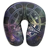 Mandala Kaleidoscope Brace Neck Pillow Spa Memory Foam U-SHAPE Flying People