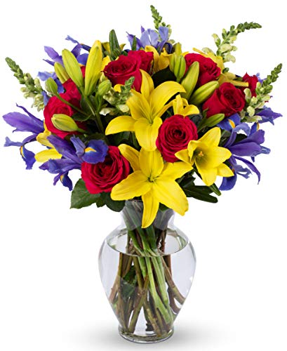 Benchmark Bouquets Joyful Wishes, With Vase  (Fresh Cut Flowers)