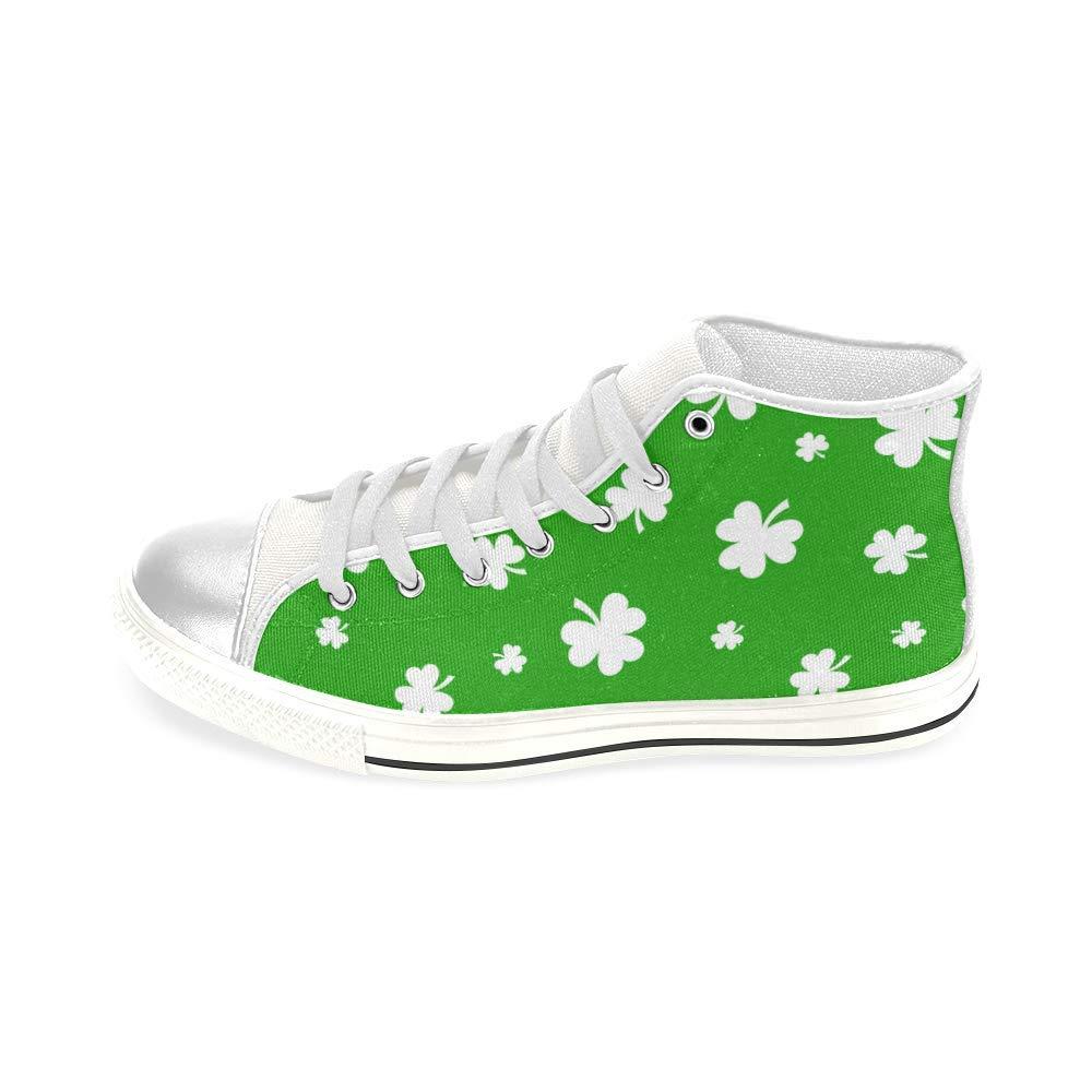 INTERESTPRINT Shamrock Aquila High Top Canvas Shoes for Big Kids Boys Girls