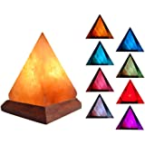 V.C.Formark USB Himalayan Salt Lamp Release Negative Ions for Office Home Deco Yoga Gift, Pyramid Salt Crystal Rock Hand…