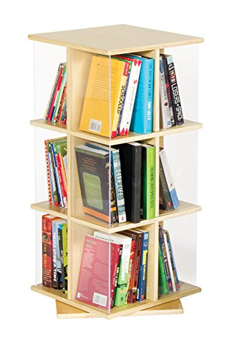 GuideCraft Rotating Book Display 3 - Rack Rotating Book