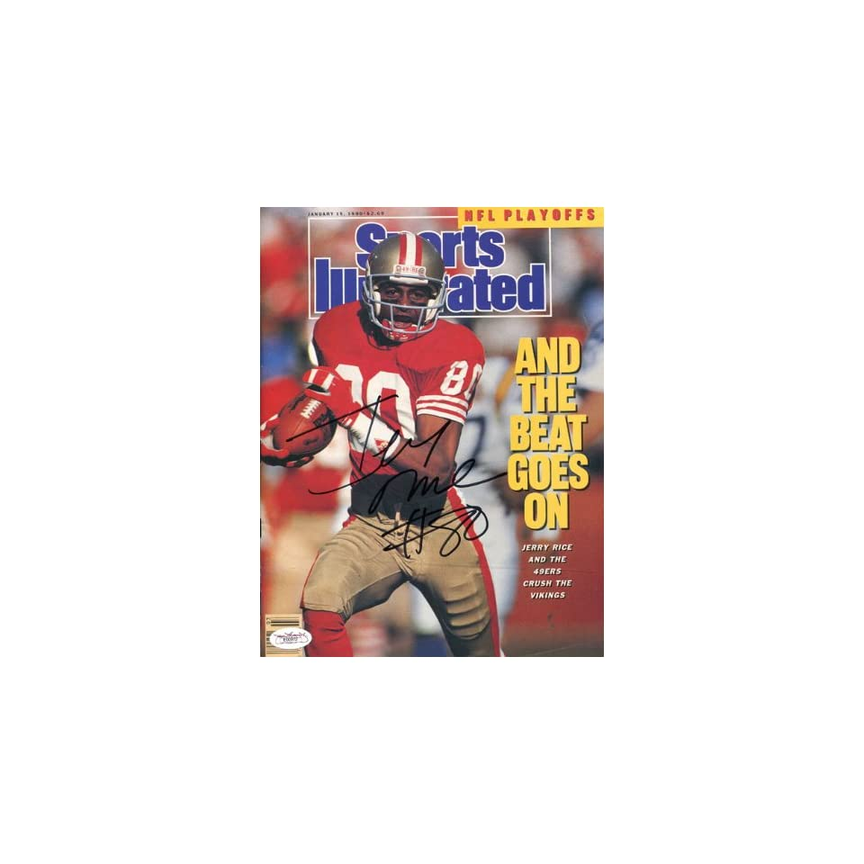 Jerry Rice Autographed Jan. 5, 1990 Sports Illustrated Magazine (JSA)