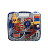 Puzzle Simulation Medicine Box Doctor Toys Set Kids Pretend Play Doctor Set Blue