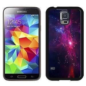NEW Unique Custom Designed Samsung Galaxy S5 I9600 G900a G900v G900p G900t G900w Phone Case With Purple Nebula Star Formation_Black Phone Case