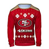 Klew NFL San Francisco 49ers Men's Holiday Ugly
