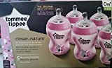 Tommee Tippee Closer to Nature 5pk 9oz Deco Baby Bottle Set - Pink Flower