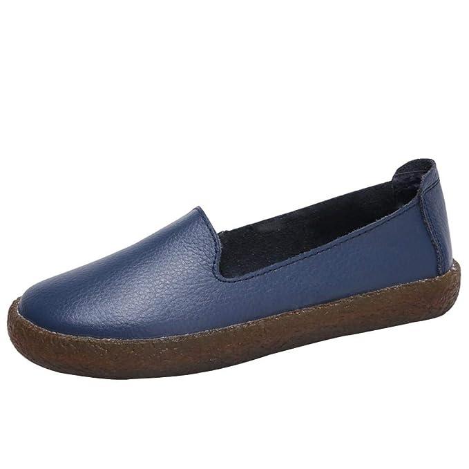 Yesmile Zapatos de mujer❤️Zapatos Zapatillas de muletin con Cordones para Mujer Zapatillas de Piel Ocasionales Mocasines con Cremallera: Amazon.es: Ropa y ...