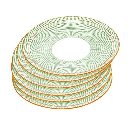 Sunbright 6-Piece Porcelain Dinner Plates for Dishes, 10-1/4 Inch - Green