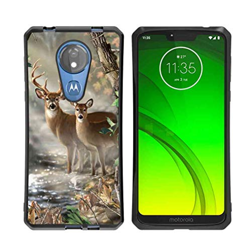 - for Moto G7 Power Case, Moto G7 Supra Case Vector Forest Deer Pattern, ABLOOMBOX Shock Soft Bumper Slim Rubber Protective Case with Reinforced Corners for Motorola Moto G7 Power