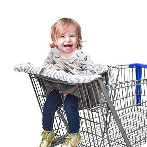 Shopping Cart Cover & High Chair Cover for Baby or Toddler - Includes Attached Carrying Bag – For Boy or Girl – Machine Washable