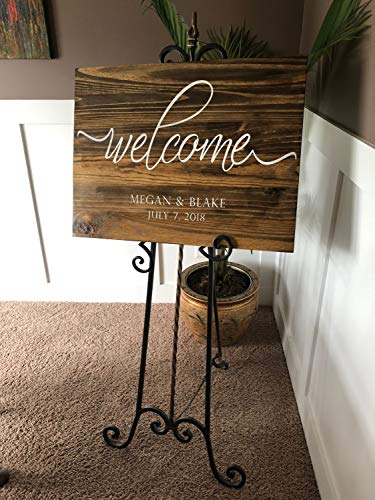 rfy9u7 Welcome Wedding Sign | Custom Wedding Sign | Personalized Sign | Welcome to Our Forever | Wedding Sign | Wooden Wedding Sign]()
