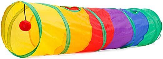 Túneles Para Gatos Artículos Para Gatos Tubos Y Túneles Para Animales Pequeños Pet Cat Play Tunnel Túnel De Gato Plegable Con Bola Gatito Juguetes Para Gatos Bulk Cat Toys Conejo Straight Play: