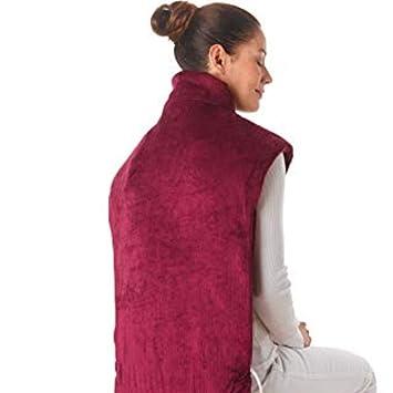 Almohadilla eléctrica de calor MX kingdom para hombros cervicales y espalda, 2 temperaturas, 4 vibraciones de masaje, color rojo: Amazon.es: Salud y cuidado ...