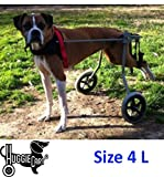Dog Wheelchair for Dog 3-99 lbs. By Huggiecart. 8 Sizes to Select to Fit Your Dog (4L-Medium Long 33-65 lbs)