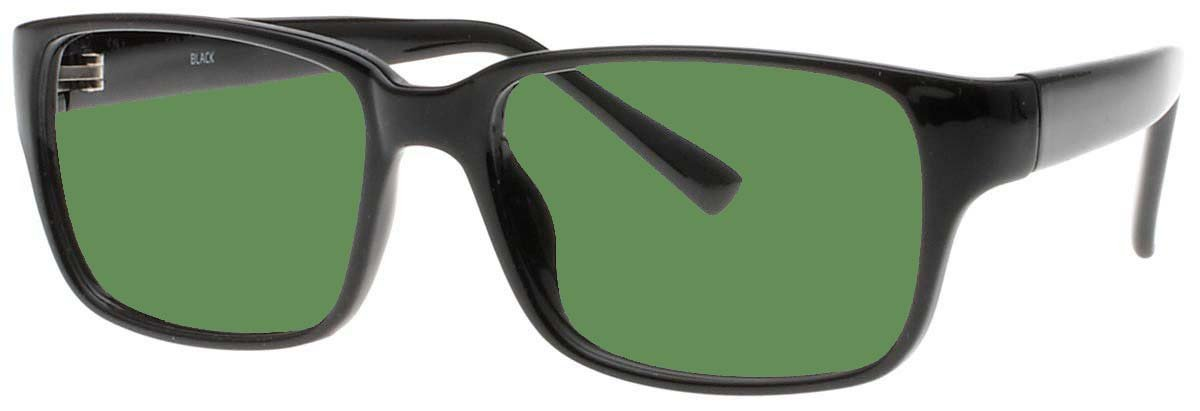 BoroView Shade #3 - Glass Working Spectacles in Black Unisex Plastic Frame - 54/38-19-140, Spring Hinges