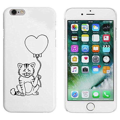 Blanc 'Chat avec Ballon de Coeur' étui / housse pour iPhone 6 & 6s (MC00011666)