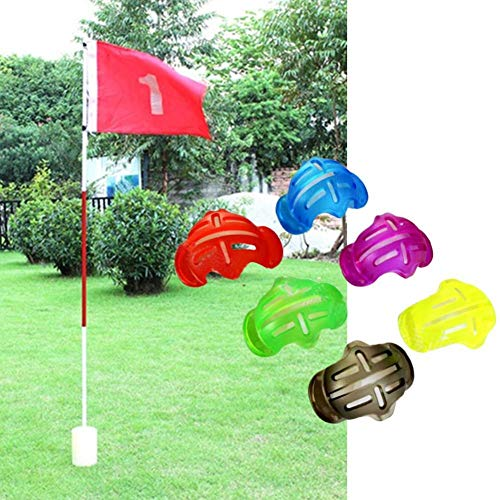 SharpointHome 4 PCS Golf Ball Line Marker Template Alignment Liner Marks Tool Putting Aids Shell Random Color