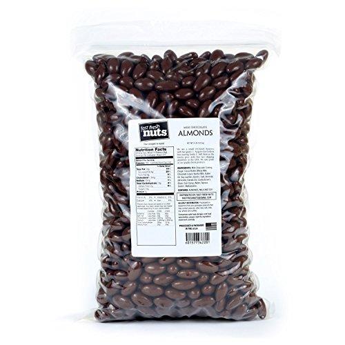 Chocolate Coated Almonds - Bulk Milk Chocolate Almonds - 8 lb - Fast Fresh Nuts