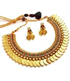 YouBella Golden Plated Jewellery Set for Women (Multi-Colour)(YBNK_3451_FON)