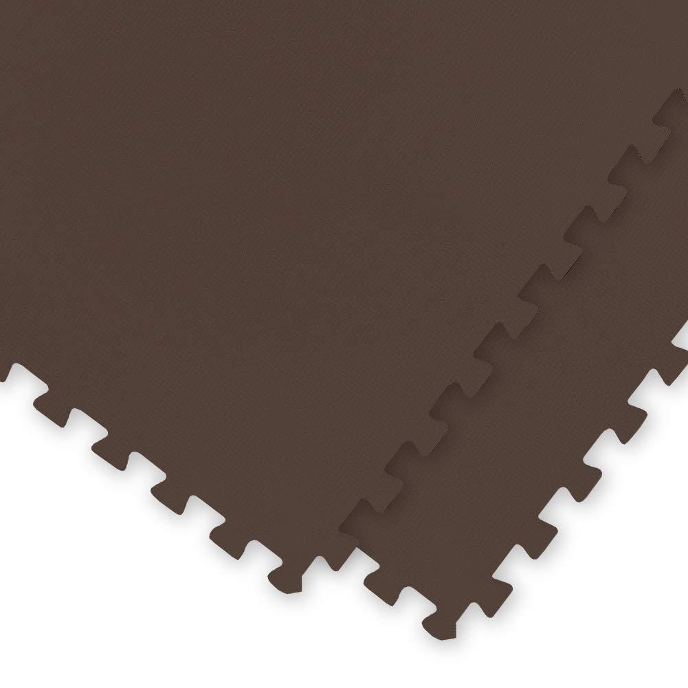 極厚ジョイントマット 2cm 8畳 大判 【やさしいジョイントマット 極厚 約8畳(36枚入)本体 ラージサイズ(60cm×60cm) ブラウン(茶色)】 床暖房対応 赤ちゃんマット ds-1719773 B01M1KMW5W