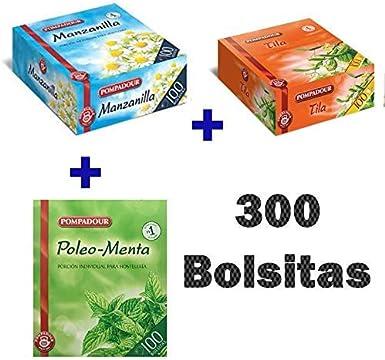 Pack Té Pompadour - Tila Pompadour, Manzanilla Pompadour, Poleo ...