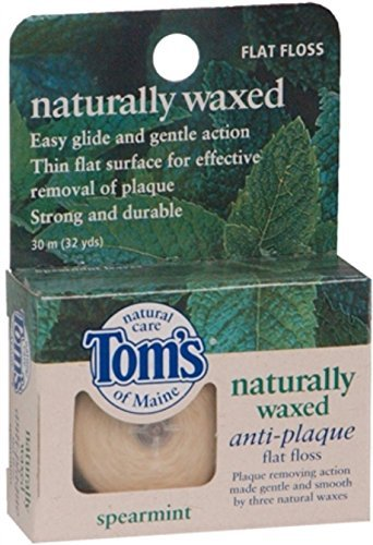 Flat Antiplaque Spearmint (Tom's of Maine Naturally Waxed Anti-Plaque Flat Floss Spearmint 32 Yards by Tom's of Maine)