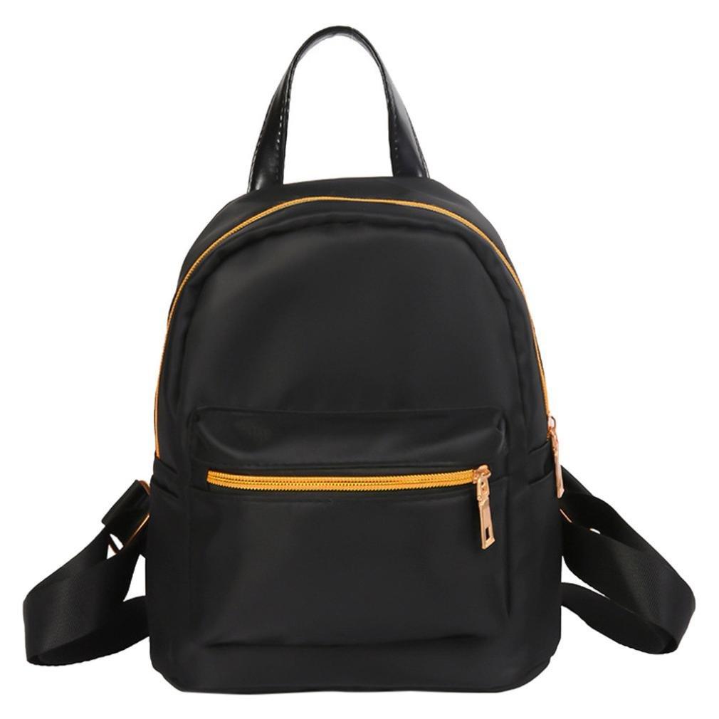 Women Junior Girls Boys Backpack BCDshop Fashion School Shoulder Bag Rucksack Satchel-Camo Black Color (Black)