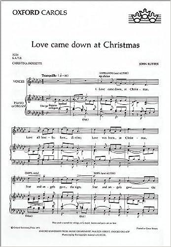 love came down at christmas vocal score john rutter 9780193430259 amazoncom books