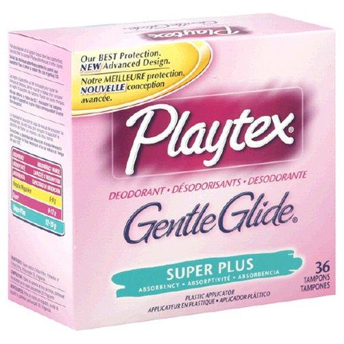(Playtex Gentle Glide Deodorizing Super Plus Tampons, 36 ct)