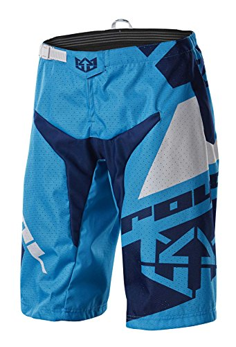 Royal Racing Victory Race Shorts, Cyan Blue/Navy Blue/White, Small