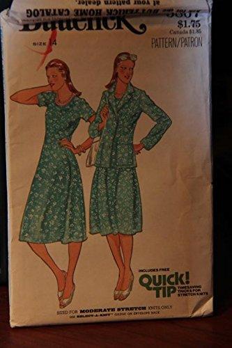 (Vintage Butterick Pattern 5867 Size 14 - Misses' Dress & Jacket (uncut pattern, envelope has wear))