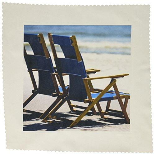 Image of Blue Beach Chairs,  Ship Island, Mississippi - US25 FVI0023 - Franklin Viola